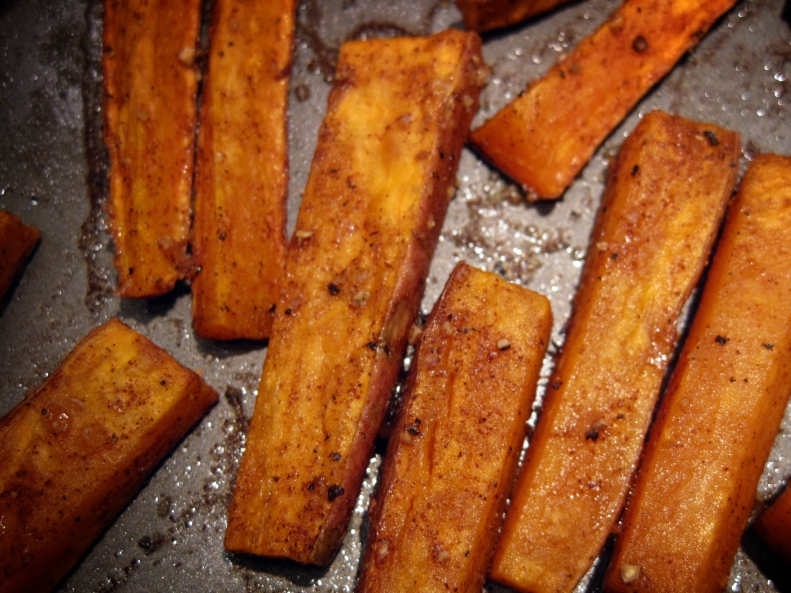 sweet potato, fries, baked sweet potato fries, oven fries, french fries