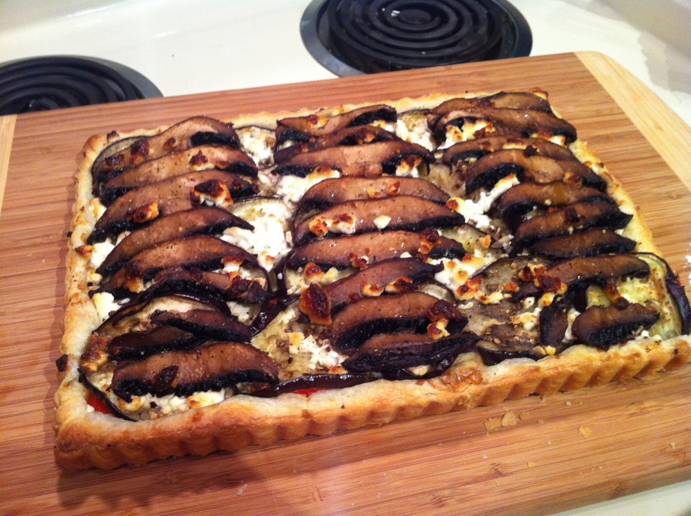 Vegetable Tart with Goat Cheese (1/6)